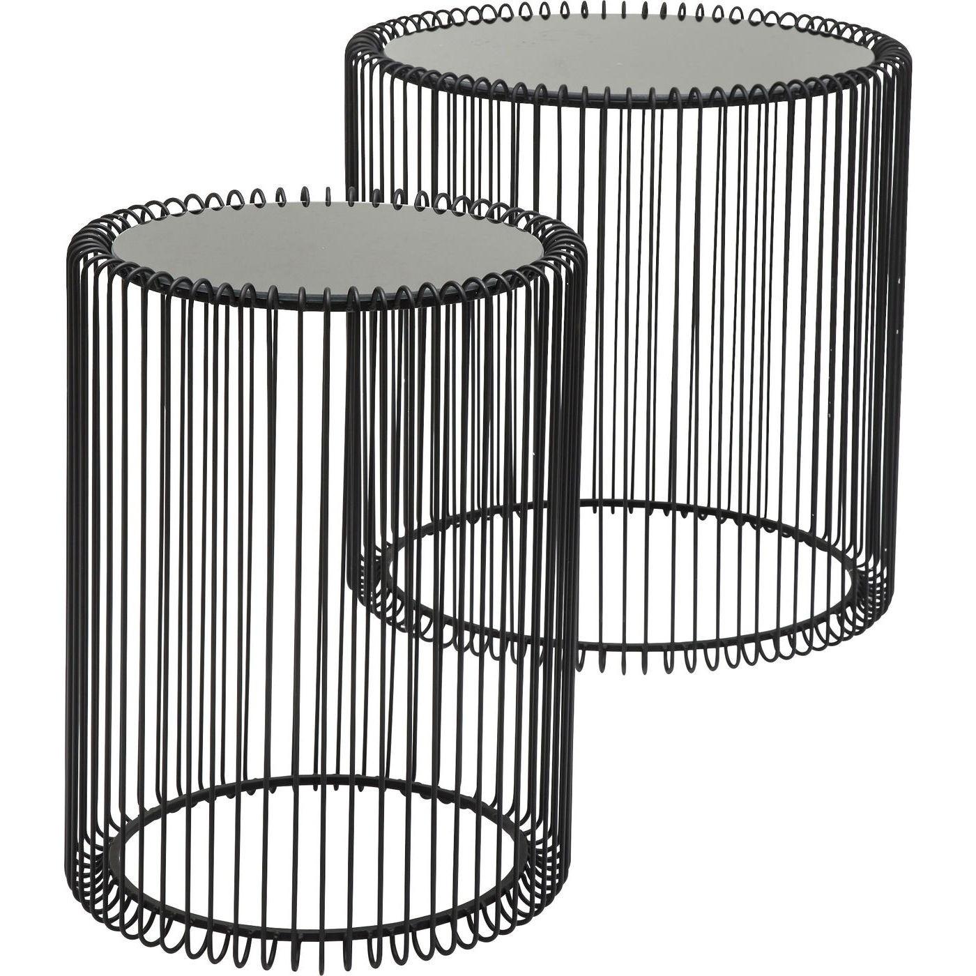 KARE Couchtisch 2er Set Wire Black 79578, 45x44x45 cm